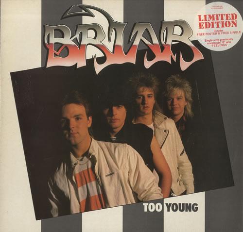 "Briar Too Young + 7"" & Poster vinyl LP album (LP record) UK BR8LPTO463368"