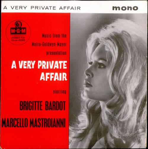 "Brigitte Bardot A Very Private Affair EP 7"" vinyl single (7 inch record) UK BGI07AV525372"
