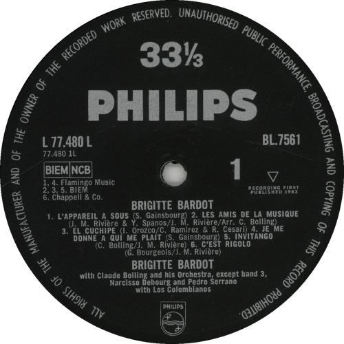 Brigitte Bardot Brigitte Bardot - EX vinyl LP album (LP record) UK BGILPBR525357