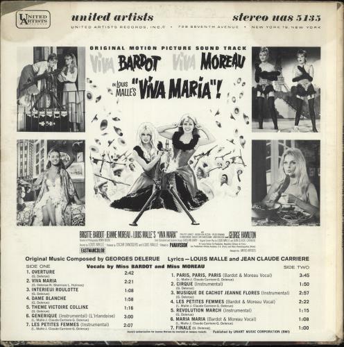 Brigitte Bardot Viva Maria! vinyl LP album (LP record) US BGILPVI697700