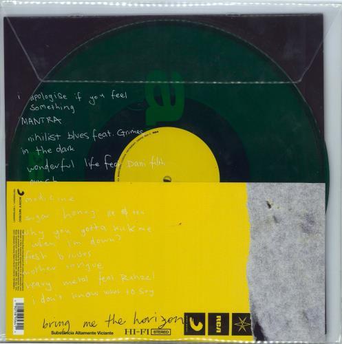 Bring Me The Horizon Amo - Green vinyl 2-LP vinyl record set (Double Album) UK BH82LAM770923