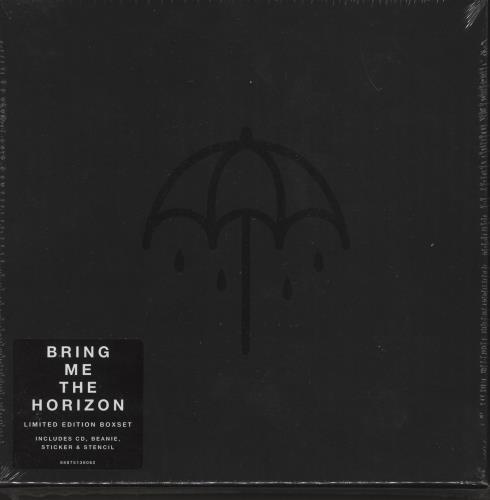 Bring Me The Horizon That's The Spirit - CD, Beanie, Sticker & Stencil - Sealed CD Album Box Set UK BH8DXTH734699