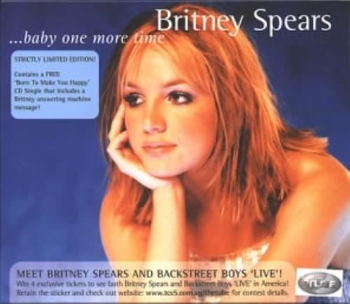 Britney Spears Baby One More Time Music Cd: Britney Spears Baby One More Time Singapore 2 CD Album Set