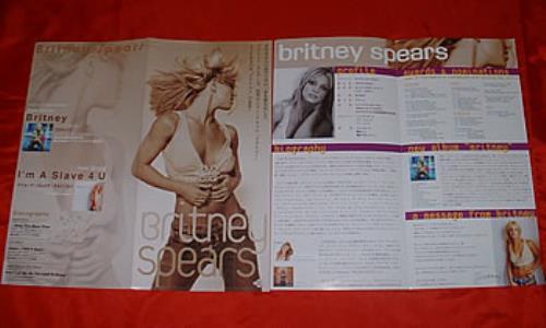 Britney Spears Britney handbill Japanese BTPHBBR316878