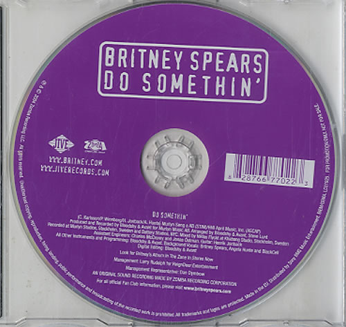 "Britney Spears Do Somethin' CD single (CD5 / 5"") UK BTPC5DO317279"