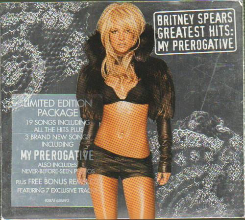 Britney Spears Greatest Hits: My Prerogative 2 CD album set (Double CD) UK BTP2CGR307257