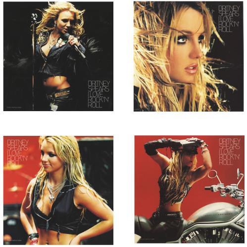 Britney Spears I Love Rock N Roll + Prints UK CD single (CD5