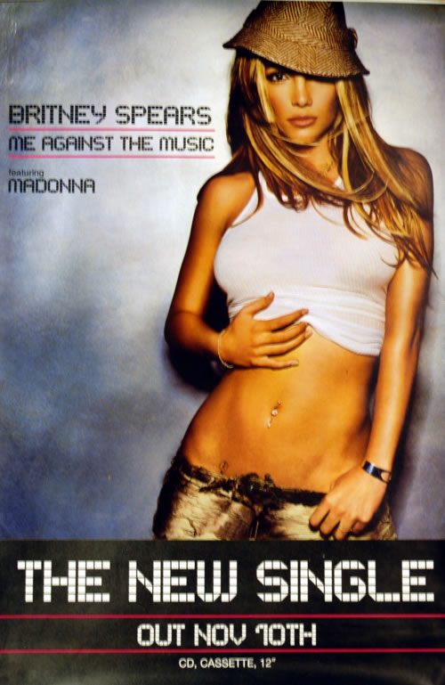 Britney Spears Me Against The Music - Featuring Madonna poster UK BTPPOME609076