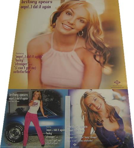 Britney Spears Oops I Did It Again Uk Promo Poster 410330