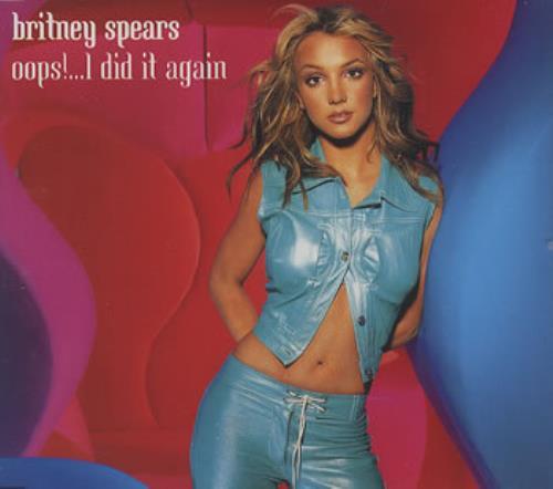 """Britney Spears Oops!... I Did It Again CD single (CD5 / 5"""") UK BTPC5OO358849"""