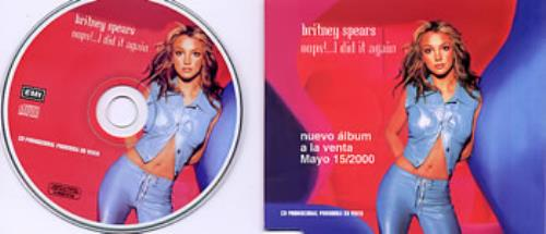 Britney Spears Oops I Did It Again Colombian Promo Cd Single Cd5 5 237348