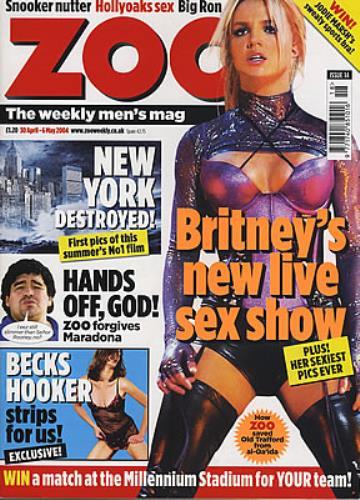 Britney Spears Zoo magazine UK BTPMAZO377345