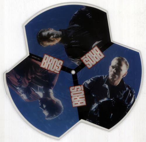 Bros Drop The Boy shaped picture disc (picture disc vinyl record) UK BROSHDR15016