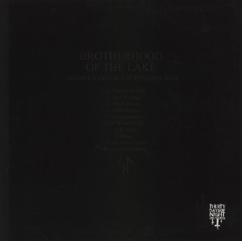 Brotherhood Of The Lake Desperation Is The English Way Vol 1 - Yellow with Black Splatter Vinyl vinyl LP album (LP record) UK 2V5LPDE756947