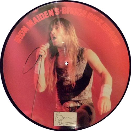 Bruce Dickinson Iron Maiden's Bruce Dickinson Interview picture disc LP (vinyl picture disc album) UK BRDPDIR275133