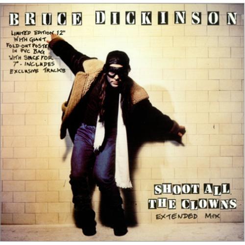 "Bruce Dickinson Shoot All The Clowns - Poster sleeve + 7"" 12"" vinyl single (12 inch record / Maxi-single) UK BRD12SH426283"