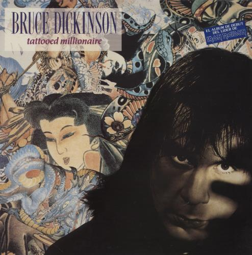 Bruce Dickinson Tattooed Millionaire vinyl LP album (LP record) Spanish BRDLPTA208460