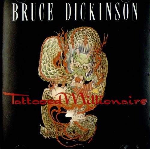 Bruce Dickinson Tattooed Millionaire Us Cd Album Cdlp
