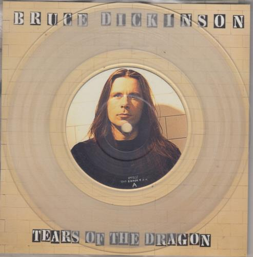 """Bruce Dickinson Tears Of The Dragon - Picture Disc & Clear Vinyl 7"""" 7"""" vinyl picture disc 7 inch picture disc single UK BRD7PTE399044"""