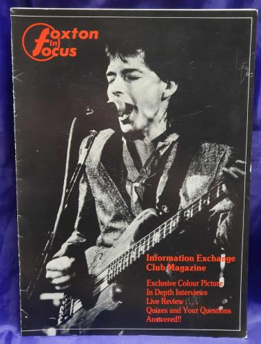 Bruce Foxton Foxton In Focus - Fan Club Pack - Autographed fanzine UK BFXFAFO726937