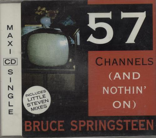 "Bruce Springsteen 57 Channels (And Nothin' On) CD single (CD5 / 5"") Austrian SPRC5CH210992"