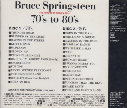 Bruce Springsteen 70's to 80's The Future Of Rock 'N Roll Japanese Promo 2  CD album set (Double CD)