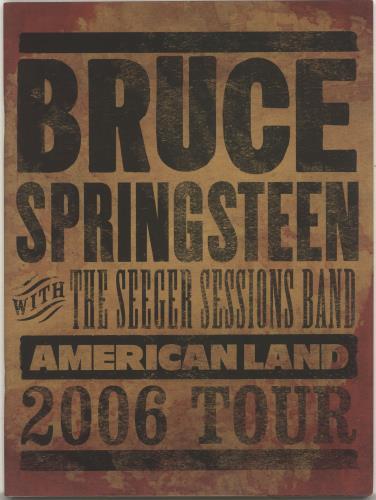 Bruce Springsteen American Land 2006 Tour tour programme UK SPRTRAM383633