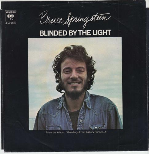 "Bruce Springsteen Blinded By The Light - Radio Station Copy 7"" vinyl single (7 inch record) US SPR07BL733699"