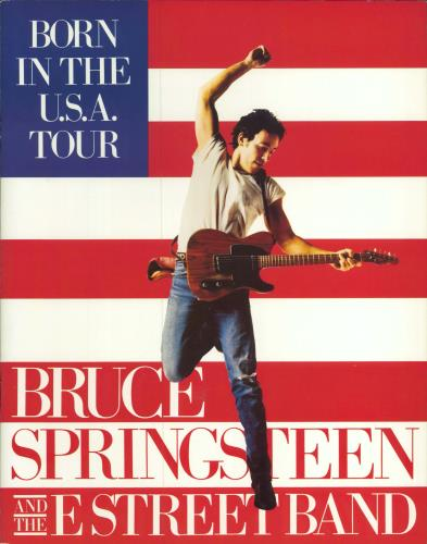 Bruce Springsteen Born In The U.S.A. + Ticket Stub tour programme UK SPRTRBO199670