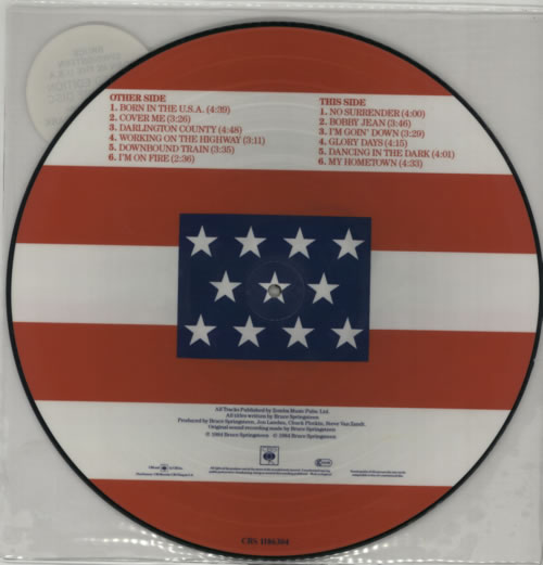 Bruce Springsteen Born In The U S A Stickered Sleeve Uk Picture Disc Lp Vinyl Picture Disc Album 1200