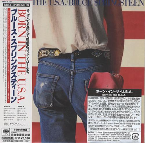 Bruce Springsteen Born In The U S A Japanese Cd Album Cdlp 370849