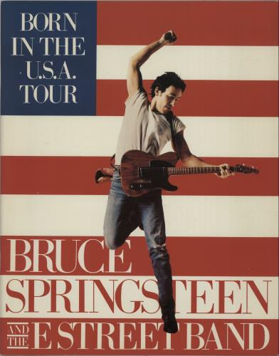 Bruce Springsteen Born In The USA Tour tour programme UK SPRTRBO27810