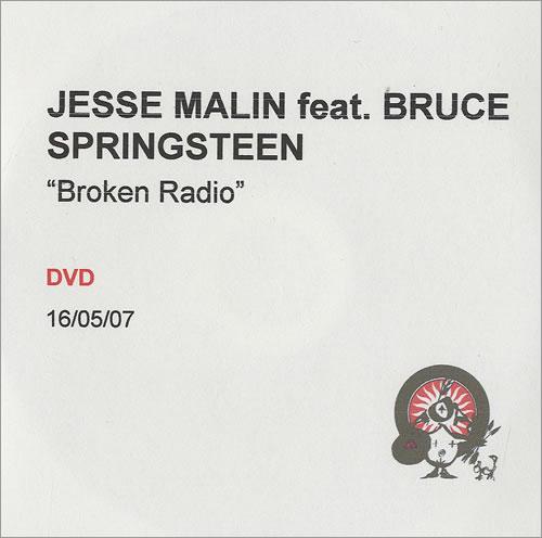 Bruce Springsteen Broken Radio promo DVD-R UK SPRDRBR491927