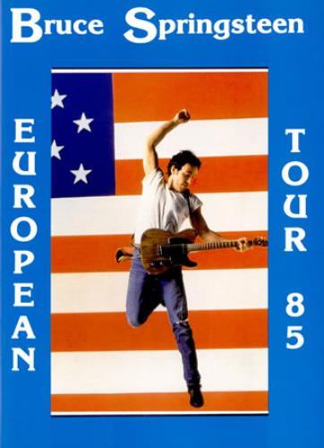Bruce Springsteen European Tour 85 tour programme UK SPRTREU389238