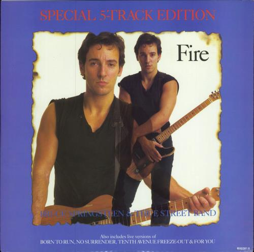 "Bruce Springsteen Fire EP 12"" vinyl single (12 inch record / Maxi-single) UK SPR12FI44117"