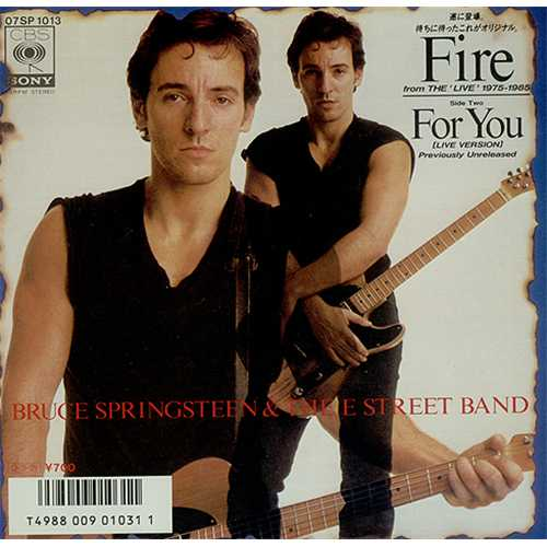 "Bruce Springsteen Fire 7"" vinyl single (7 inch record) Japanese SPR07FI406879"