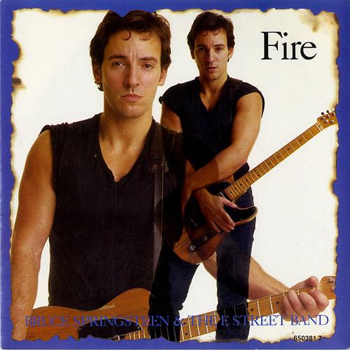"Bruce Springsteen Fire 7"" vinyl single (7 inch record) UK SPR07FI46773"
