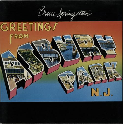 Bruce Springsteen Greetings From Asbury Park N.J vinyl LP album (LP record) UK SPRLPGR572937