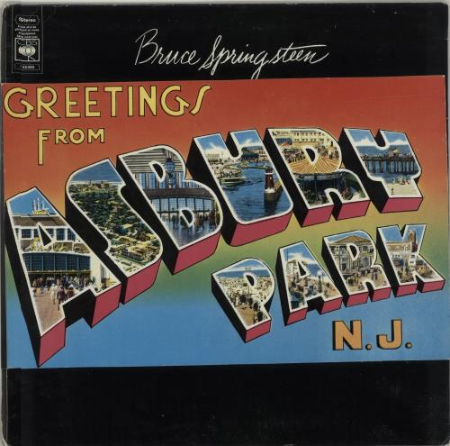Bruce Springsteen Greetings From Asbury Park N.J vinyl LP album (LP record) UK SPRLPGR687276