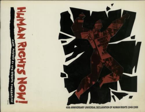 Bruce Springsteen Human Rights Now! tour programme UK SPRTRHU557675