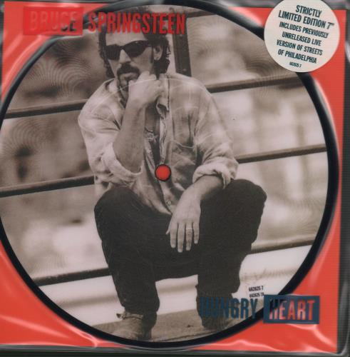 """Bruce Springsteen Hungry Heart 7"""" vinyl picture disc 7 inch picture disc single UK SPR7PHU55227"""
