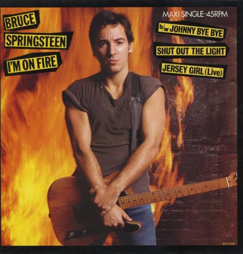"Bruce Springsteen I'm On Fire 12"" vinyl single (12 inch record / Maxi-single) Dutch SPR12IM37976"
