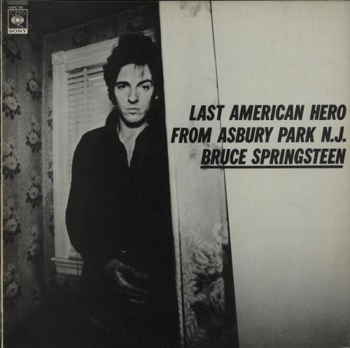 Bruce Springsteen Last American Hero From Asbury Park, N.J. vinyl LP album (LP record) Japanese SPRLPLA554162