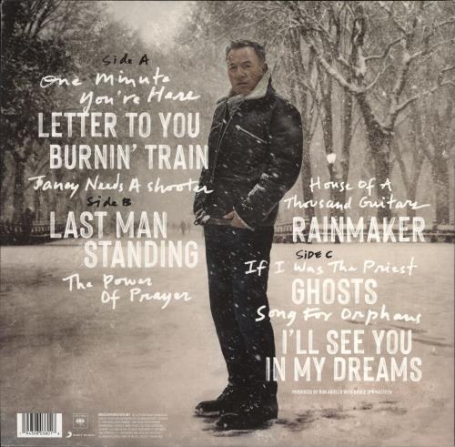 Bruce Springsteen Letter To You - 140gm Grey Vinyl 2-LP vinyl record set (Double Album) UK SPR2LLE775600