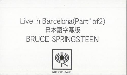 Bruce Springsteen Live In Barcelona video (VHS or PAL or NTSC) Japanese SPRVILI501811