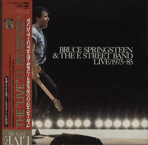Bruce Springsteen Live/1975-85 + Red Obi Vinyl Box Set Japanese SPRVXLI684858