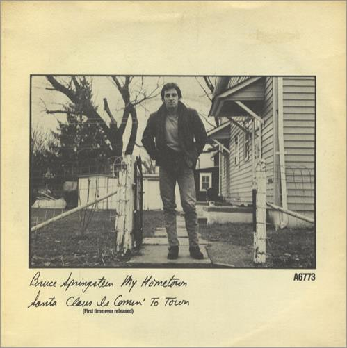 "Bruce Springsteen My Hometown 7"" vinyl single (7 inch record) UK SPR07MY01678"