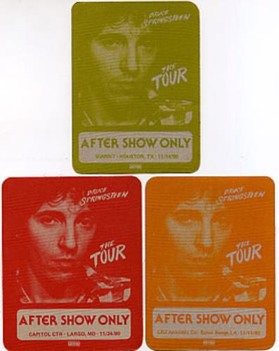 Bruce Springsteen Set Of 3 Tour Passes - 1980 tour pass US SPRTPSE297524
