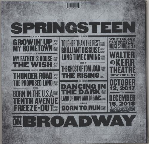 Bruce Springsteen Springsteen On Broadway - Sealed 4-LP vinyl album set (4 records) UK SPR4LSP713393