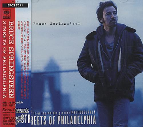 """Bruce Springsteen Streets Of Philadelphia CD single (CD5 / 5"""") Japanese SPRC5ST24785"""